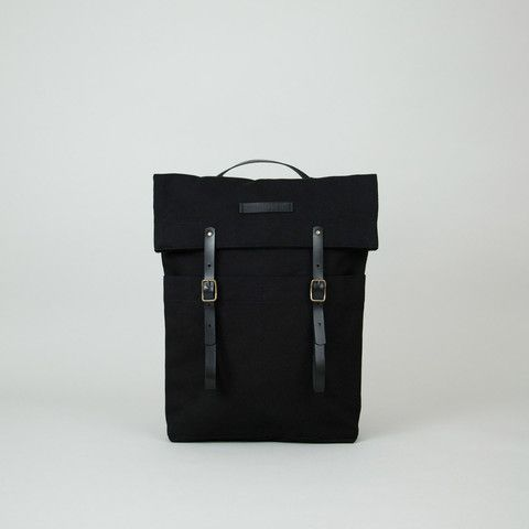 Newspaper Rucksack Black