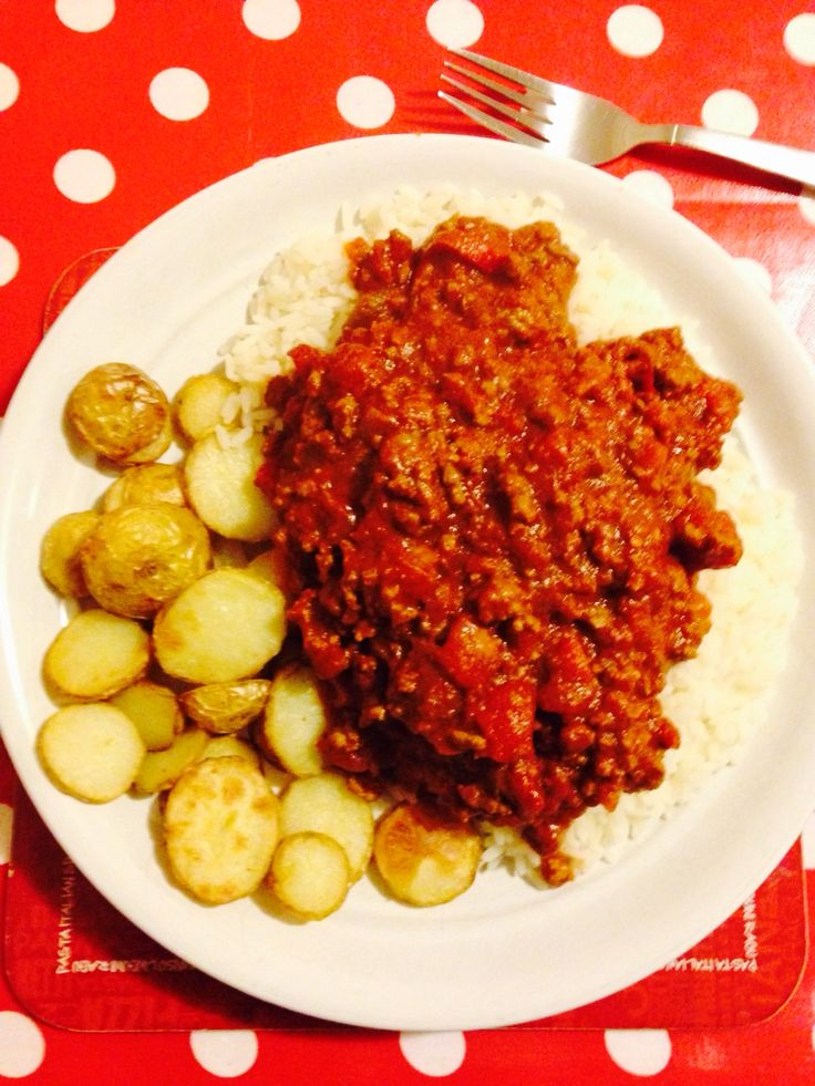 Slimming world chilli with rice and potato rounds all syn free