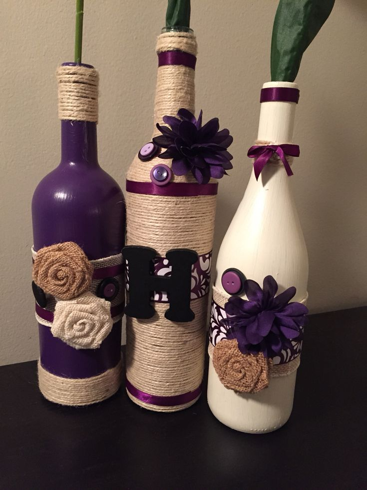 DIY wine bottle crafts
