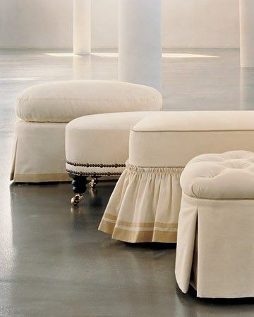 Renew With Reupholstery Armchairs Ottomans And Skirts