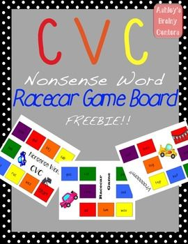 Nonsense Words: Racecar game to practice long vowels, shor