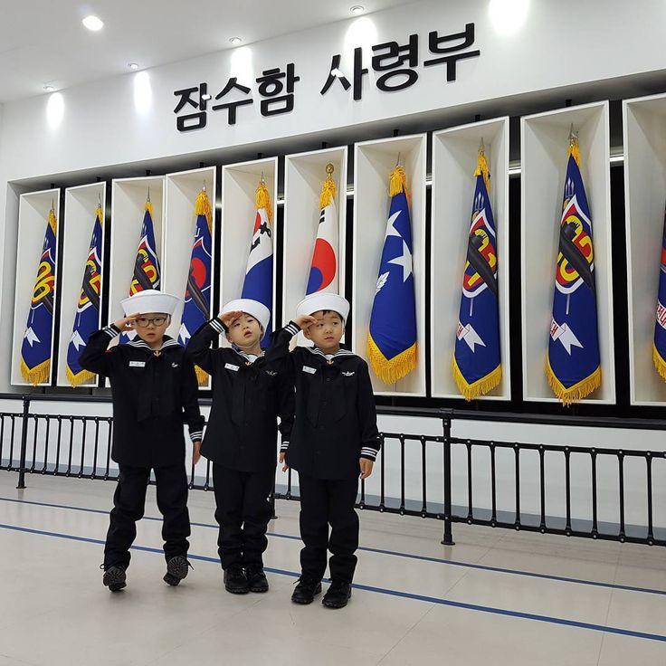오랜만에 다시찾은 잠수함사령부! 아빠의 발품으로 완성한 해군 동정복. 군체험도 많이 했으니 계급은 상병으로~^^;