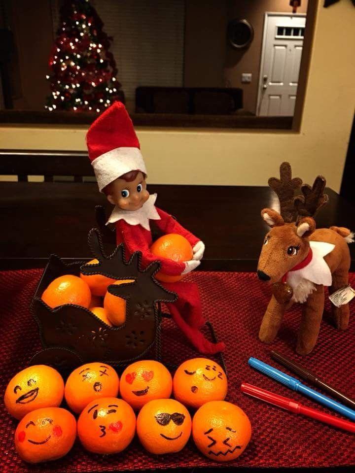 Elf on the shelf oranges emoji