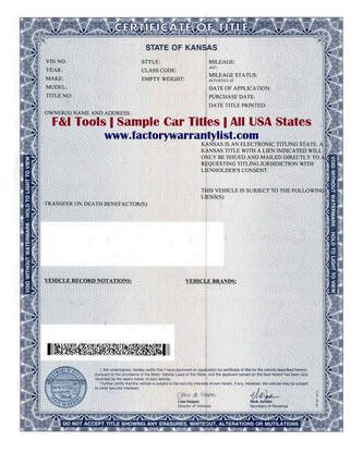 My Vehicle Title - What does a car title look like? in ...