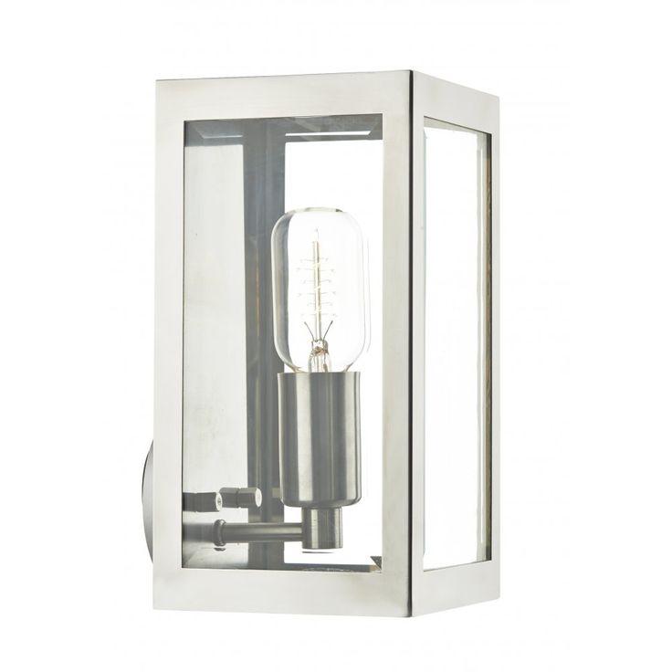 Dar ERA0744 Era 1 Light Outdoor Wall Light Stainless Steel IP44