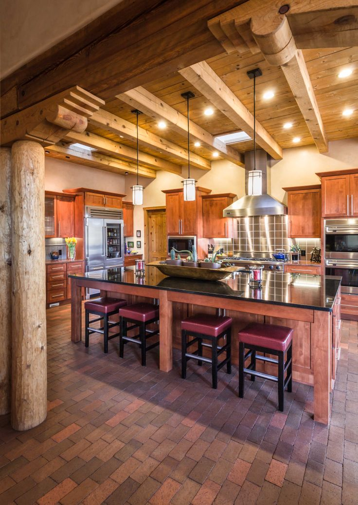 Find this gorgeous modern yet traditional new mexican for Mexican style kitchen pictures