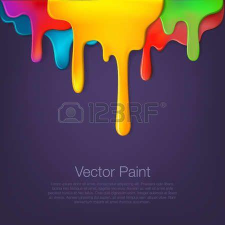 pintura chorreando: Multicolor pintura que gotea en el fondo. el líquido de…