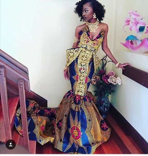 I really like this African dress because it will look good on me and you can wear it in many different occasions such as formals, wedding and birthday parties. That dress shows the African colors a…