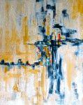 Crossroad.  An Acrylic Painting.