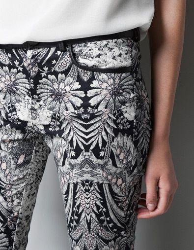 the season's coolest print: black & white floral