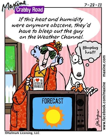 If this heat and humidity were anymore obscene, they'd ...