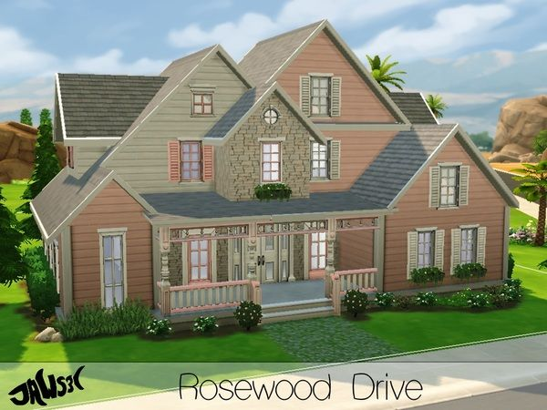 The Sims Resource: Rosewood Drive residential lot by Jaws3 • Sims 4 Downloads