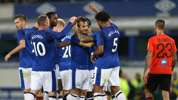 Leighton Baines gives Everton a slender lead in Europa League tie #News #composite #Everton #Football #Sport