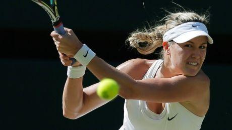 Eugenie Bouchard reaches Wimbledon final 2014.