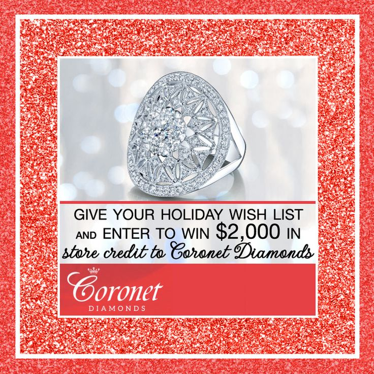 giveaway enter to win USD 2000 to shop at coronet diamonds wedding ...