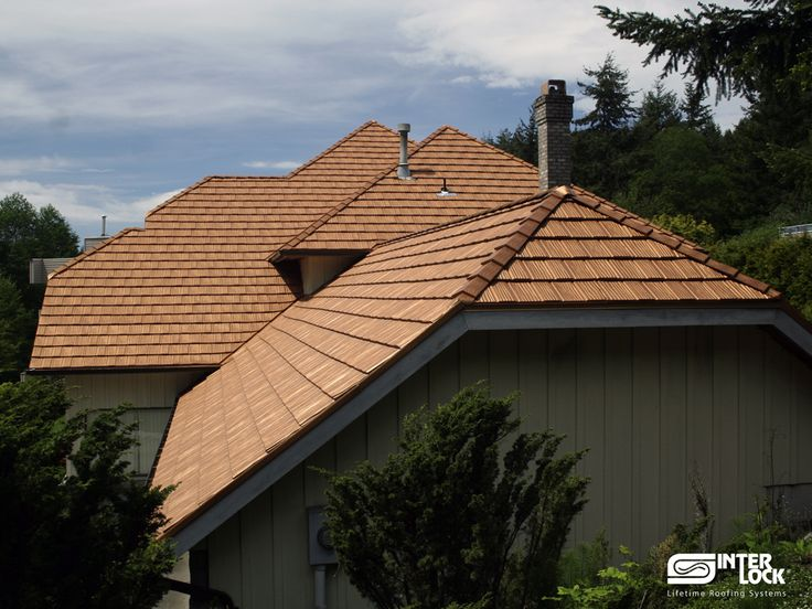 Aged Copper Interlock Shake Roof From Vancouver, BC. Installed By Interlock  Industries (BC
