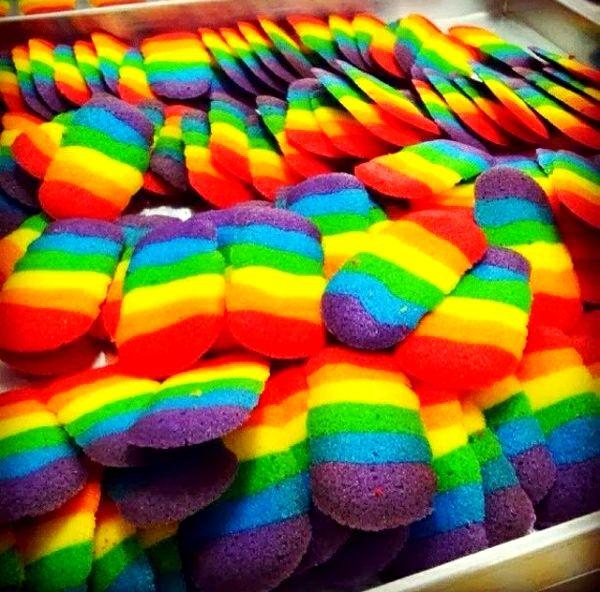 Rainbow Katetong... Sluuurrppyyyy.... #cooking #baking #cookies