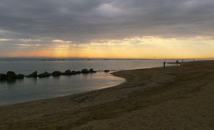 L'#alba sul #mare a #PortoPotenzaPicena