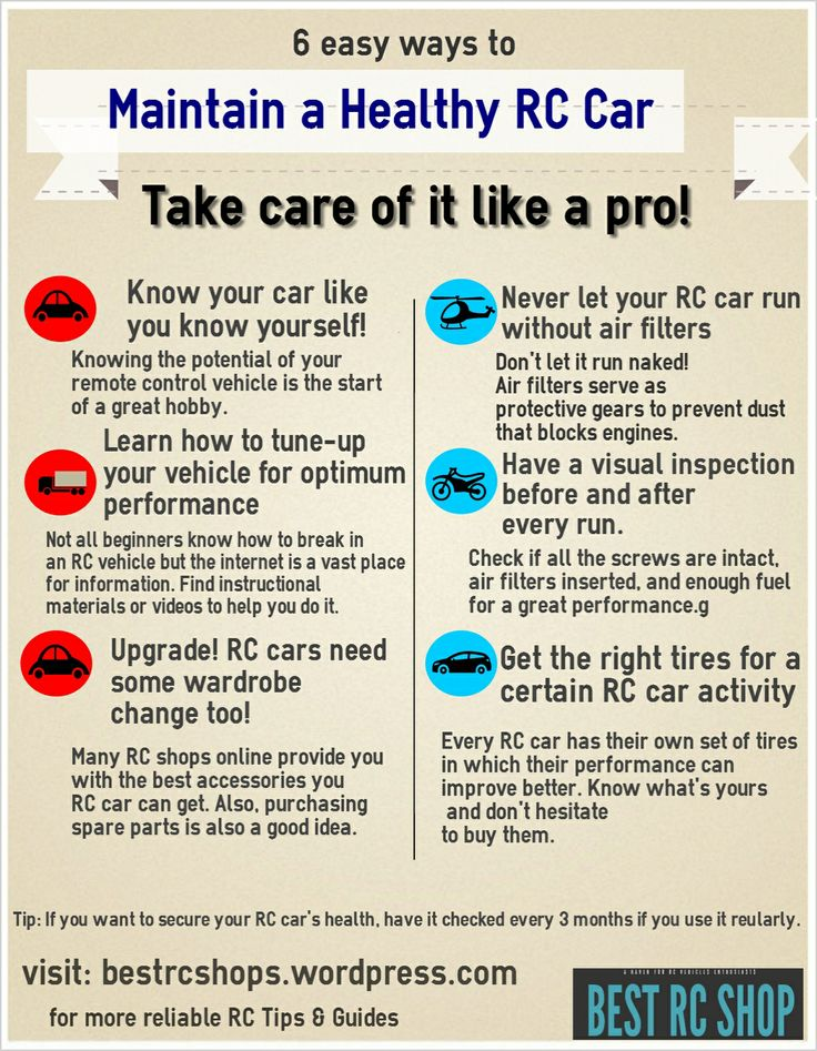 After a hard day's run, give your RC car some love by following these tips. It will help you lengthen your car's life, and maintain great performance.
