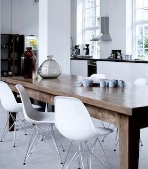 Grey Woodewn Chair For Kitchen