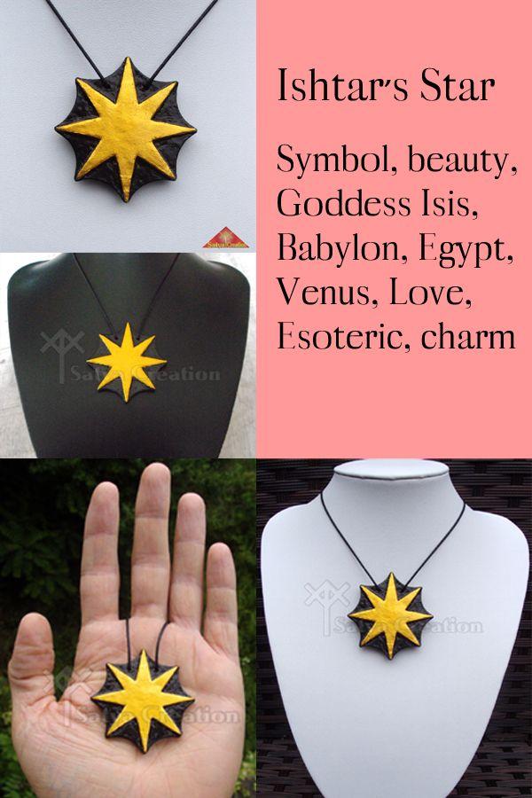 Pendant Ishtar's Star, handmade, available on Etsy, SatyaCreation.