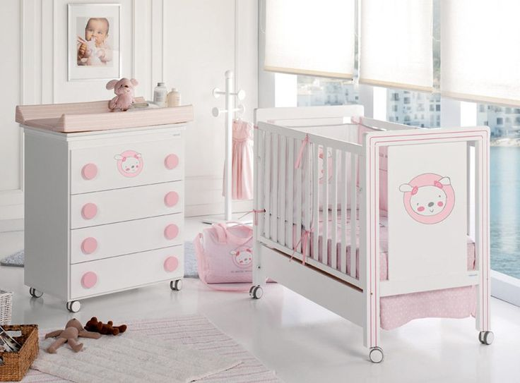 These Nursery Furniture Sets Are Available In Two Color Schemes Pink For Baby Girls And