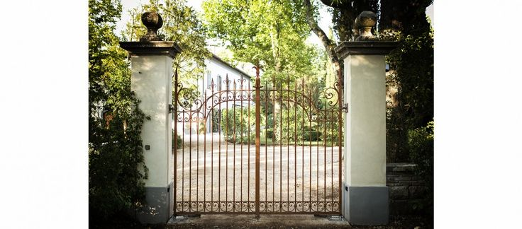 Restored Antique Iron Gate And New Columns