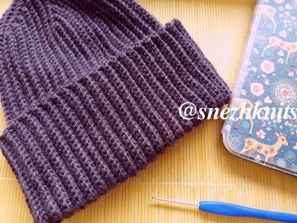 Вязание шапки бини крючком