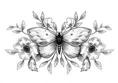 Dessin de Sophie Hedon : https://www.facebook.com/fleurintestinale , #dotwork #dot #papillon #illustration #butterfly # flower #fleur #floral