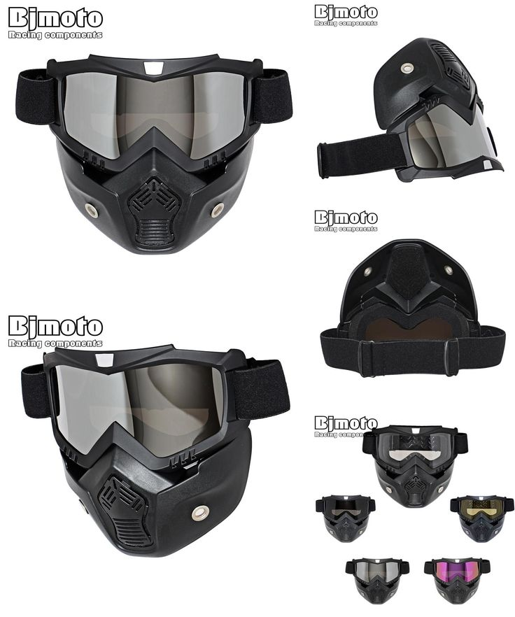[Visit to Buy] Hot Sales Modular Mask Detachable Goggles And Mouth Filter Perfect for Open Face Motorcycle Half Helmet or Vintage Helmets #Advertisement