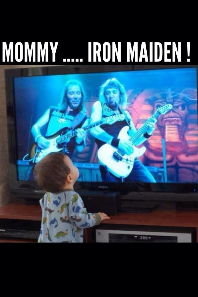 My kids will be this awesome, for they shall be third generation metal heads whether they like it or not!