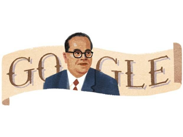 B . R . Ambedkar's 124th Birthday  -  Indian social reformer and politician honoured with a Google Doodle