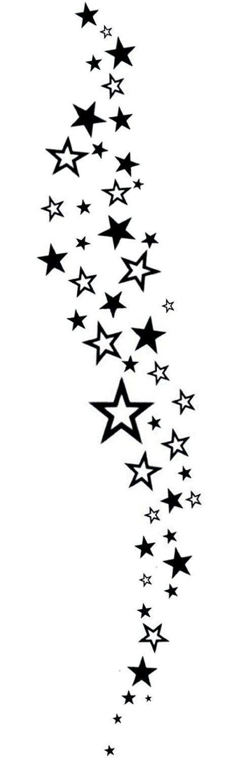 Falling Stars Temporary Tattoo By Inkwear: Amazon.co.uk: Toys & Games