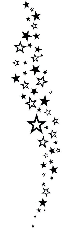 Falling Stars Temporary Tattoo By Inkwear: Amazon.co.uk: Toys & Games
