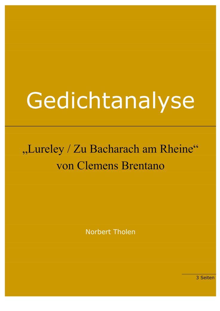 Clemens Brentano: Lureley / Zu Bacharach am Rheine
