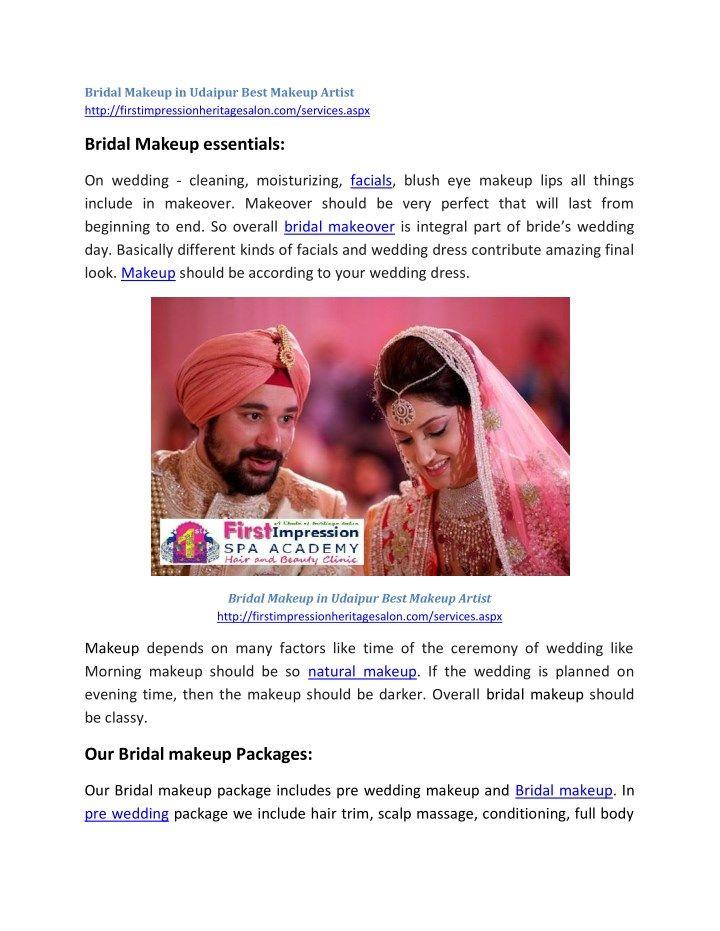 Bridal Makeup In Udaipur Best Artist