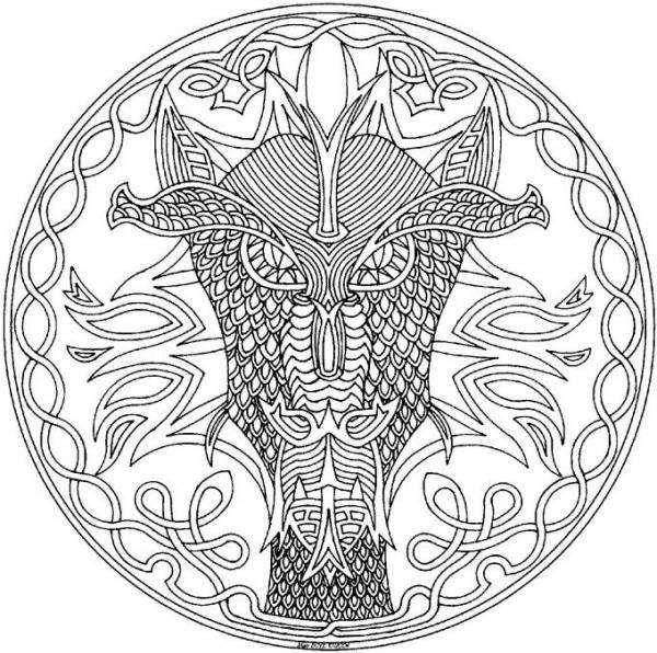 Mandala face de dragon photofarfouille le blog de celtic pinterest animals - Mandala de dragon ...