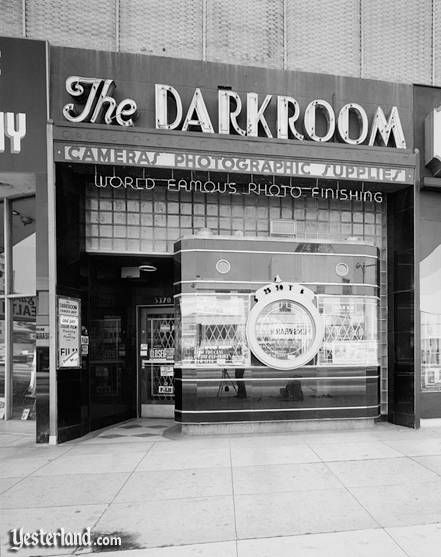 The Darkroom was a real camera store on the Miracle Mile at 5370 Wilshire Boulevard, Los Angeles. It opened in 1938.