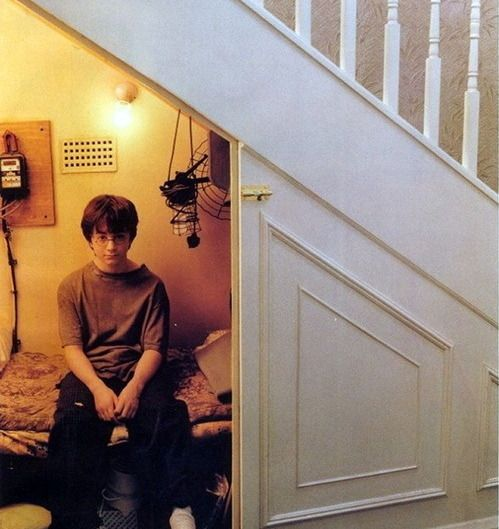 the cupboard under the stairs...Magic, Stairs, Closets, Harrypotter, Wizards, Cupboards, Mtv Cribs, So Funny, Harry Potter Humor