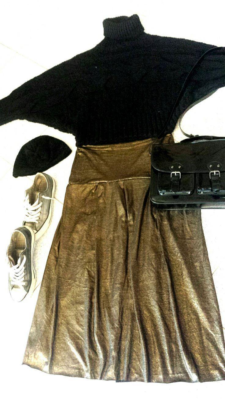 Black & Gold #partytime #dallapartedellegonne