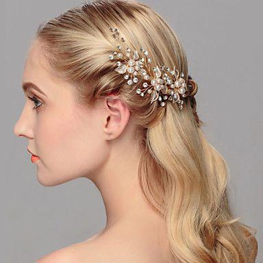 Γυναικείο Μαργαριταρένια Headpiece-Γάμος Ειδική Περίσταση Καθημερινά Γραφείο & Καριέρα Υπαίθριο Καρφίτσα Μαλλιών 1 Τεμάχιο