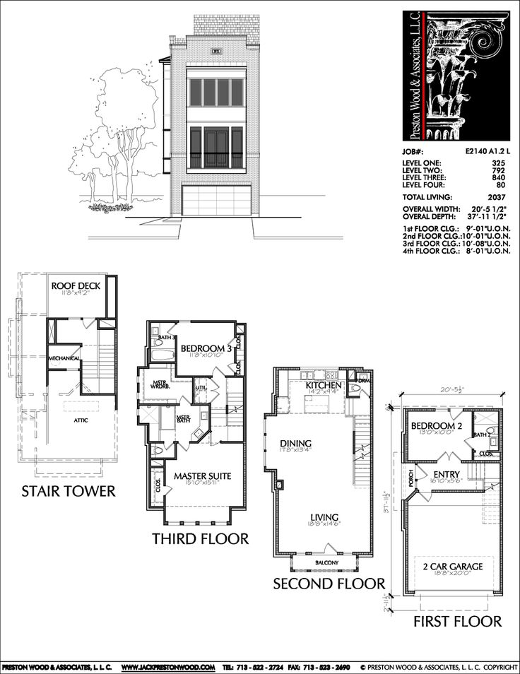 Townhome Plan E2140 A1.2L