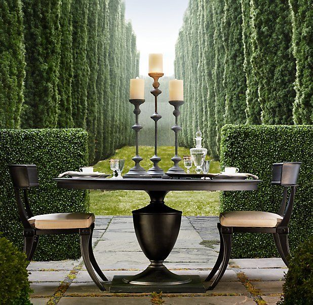 Klismos Round Dining Table And Chairs From Rh Furniture Pinterest Gardens Beautiful And