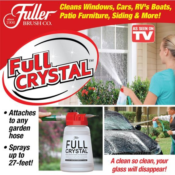 As Seen On Tv Fuller Brush Full Crystal Window And All Purpose Cleaner Clean Outdoor Windows Window Cleaner Glass Cleaner