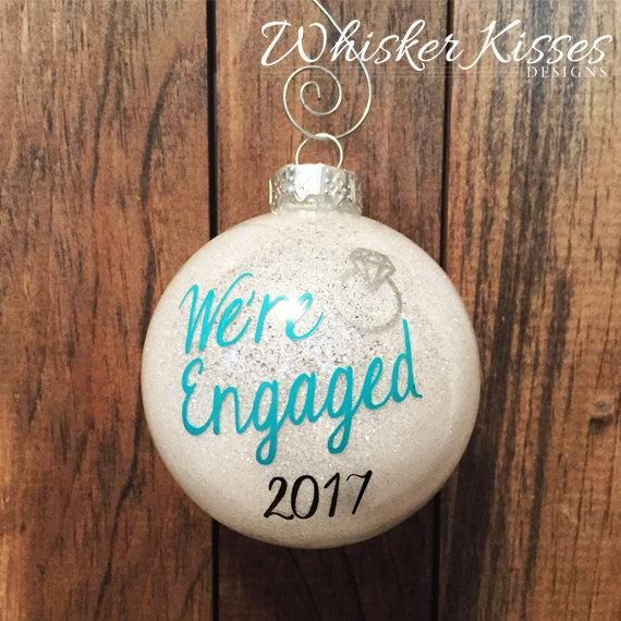 Engagement Christmas Ornament – diy stuff