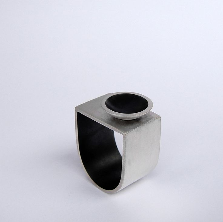 Andra Lupu - oxidised silver ring