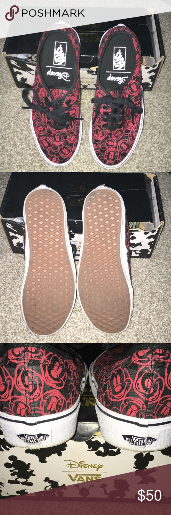 Vans Disney Collection Mickey Barely used. Like new condition. Size is 6.5 Mens / 8 women's. Please note that box will NOT be included. Any questions please ask. I am open for offers! Vans Shoes Ankle Boots & Booties