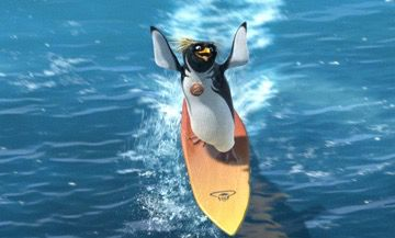 "Macaroni Penguins such as Cody Maverick from the movie ""Surfs Up"" live in the arctic"