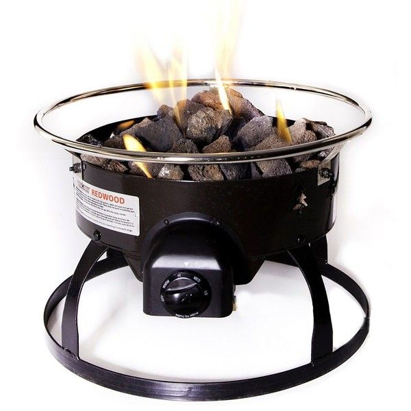 Camp Chef Redwood Portable Fire Pit, Black ($130) ❤ Liked On Polyvore  Featuring