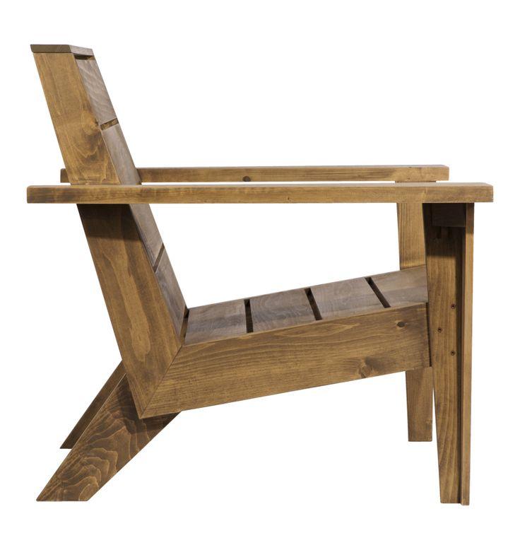 Modern Cedar Wood Adirondack Chair   Rejuvenation